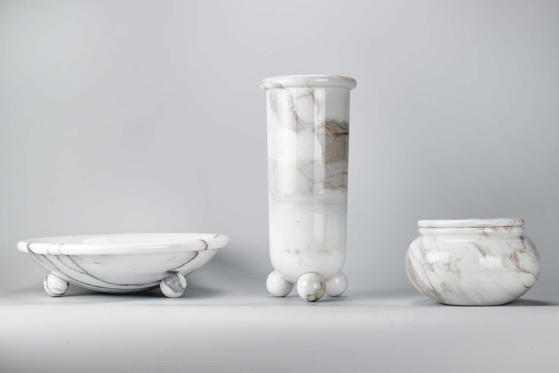 Portafrutta + Vaso + Contenitore_Sergio Asti