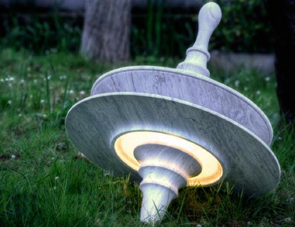 LAMPADA-TROTTOLA-de-lucchi-nigro-lampade-in-marmo