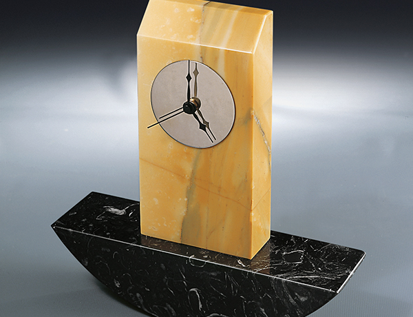 Orologio-5 Marble Clock, Architect David Palterer Design