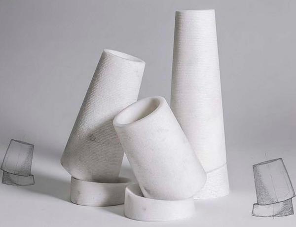 Coni in Marmo Bianco Carrara