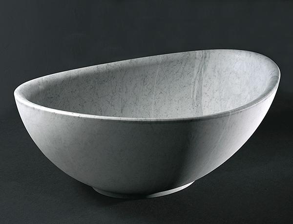 vasca in marmo bianco ovale ovosodo