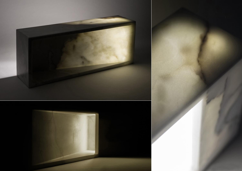 marmo trasparente - marmo retro illuminato