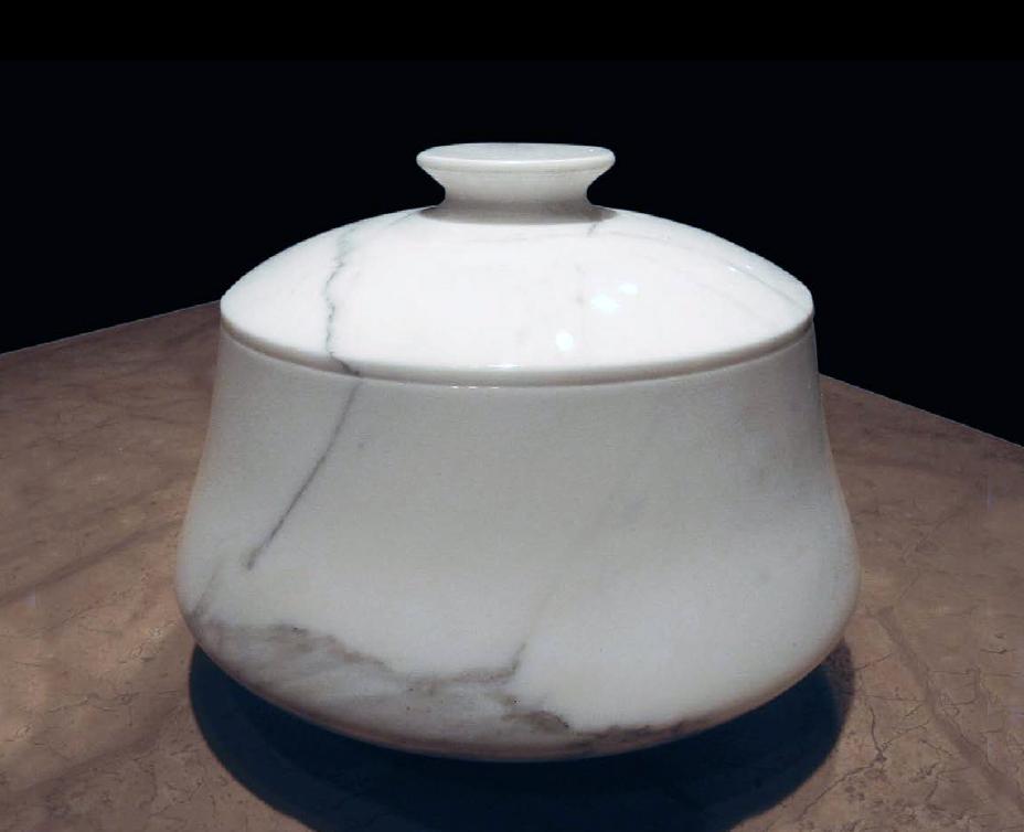 Contenitore con coperchio Centrotavola in marmo